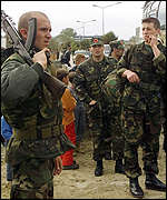 [ image: Battle lines inside Kosovo