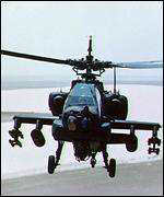 [ image: A US Apache helicopter crashed on a training mission in Albania on Monday]