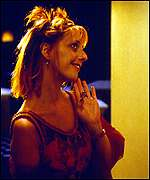 [ image: Emma Chambers plays Hugh Grant's dizzy sister Honey]