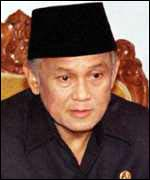 [ image: Indonesian President, B.J. Habibie announces East Timor poll]