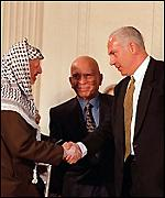 With Arafat at the Wye negotiations