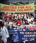 [ image: Many have protested against child labour throughout South Asia]