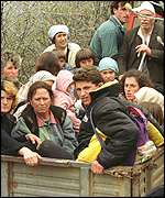 [ image: Refugees are arriving in small Albanian villages]