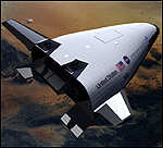 [ image: The larger X-33 will benefit from technology developed on the X-34]