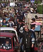 [ image: Morini crossing in Albania saw heaviest traffic]