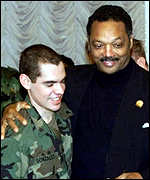 [ image: The three US soldiers: Celebrating freedom with Jesse Jackson]