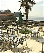 [ image: Budva used to buzz with tourist activity - now it is deserted]