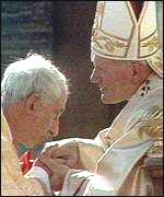 With Pope John Paul