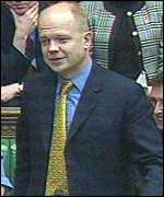 [ image: William Hague poured scorn on Labour convictions]