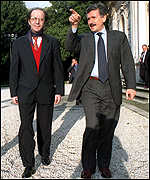 [ image: Ibrahim Rugova (left) with the Italian prime minister]