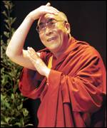 [ image: The Dalai Lama is on a six-day visit]