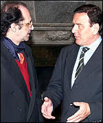 [ image: Diplomacy continues: Ibrahim Rugova meets Gerhard Schr�der]