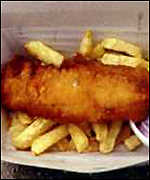 [ image: Fish and chips: The UK favourite was left out of the survey]