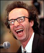 [ image: Benigni began his award collection at Cannes in 1998]