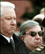 [ image: President Yeltsin: Wants to be heard]