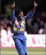 [ image: Muttiah Muralitharan's bowling action has been heavily scrutinised]