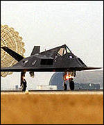 [ image: On the fourth day of bombing, Nato lost of a stealth fighter worth �35m]