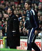 [ image: Passions running high: Former colleagues  Alex Ferguson and Brian Kidd]