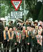 [ image: Orangemen have been parading in Drumcree since 1807]
