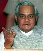 [ image: Vajpayee's BJP: Leading the attack]