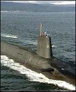 [ image: Spies may have given China the ability to detect UK Trident nuclear submarines]