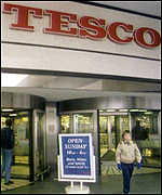 [ image: Tesco operates is home shopping from existing stores]
