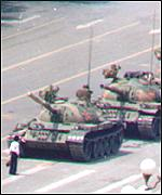 [ image: The articles are thought to be related to the 10th anniversary of the Tiananmen crackdown]