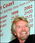 [ image: CrossCountry, owned by Richard Branson's Virgin group, was worst]