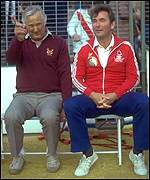 [ image: Brian Clough (right) and Peter Taylor plotted Forest's victory]