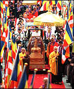 [ image: The relic is one of the holiest in Buddhism]