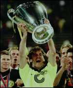 [ image: Borussia Dortmund's European Cup success was overseen by Hitzfeld]