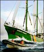 [ image: The French attack on the Rainbow Warrior in 1985 increased environmental awareness]