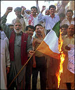 [ image: Protests in Pakistan at the Indian air strikes]