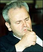 [ image: President Milosevic plays for high stakes]