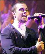 [ image: Robbie Williams: Overwhelmed by success]
