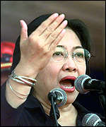[ image: Megawati is likely to head the polls but may not win an overall majority]