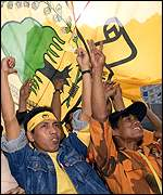 [ image: Only several thousand Golkar campaigners turned out on Friday]