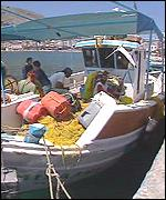 [ image: For local fishermen tensions with neighbouring Turkey can affect their livelihood]