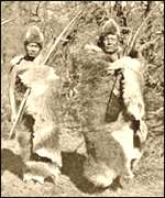 [ image: The tribe survived by hunting and gathering wild produce]