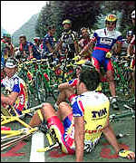 [ image: Last year's Tour de France was rocked by a drugs scandal]