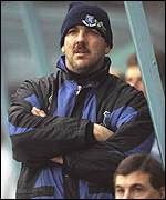 [ image: Neville Southall will partner Hughes as temporary coach]