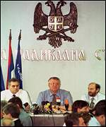 [ image: Vojislav Seselj said last week his party was leaving the government]