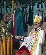 Runcie at his enthronement