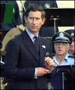 [ image: A protestor fired a starting gun at Prince Charles during a tour of Australia]