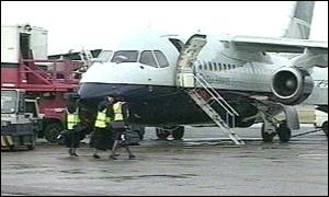 British Airways plane on ground