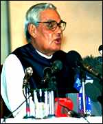[ image: Vajpayee: 'India is prepared for any eventuality']