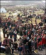 [ image: Thousands have fled Kosovo]