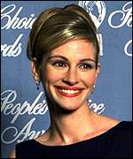 [ image: Hollywood's top woman: Notting Hill star Julia Roberts]