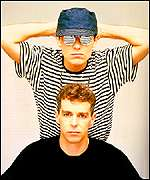 [ image: One of the Pet Shop Boys' earlier images]