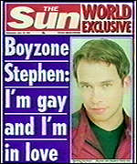 [ image: Wednesday's Sun newspaper carries the big interview]